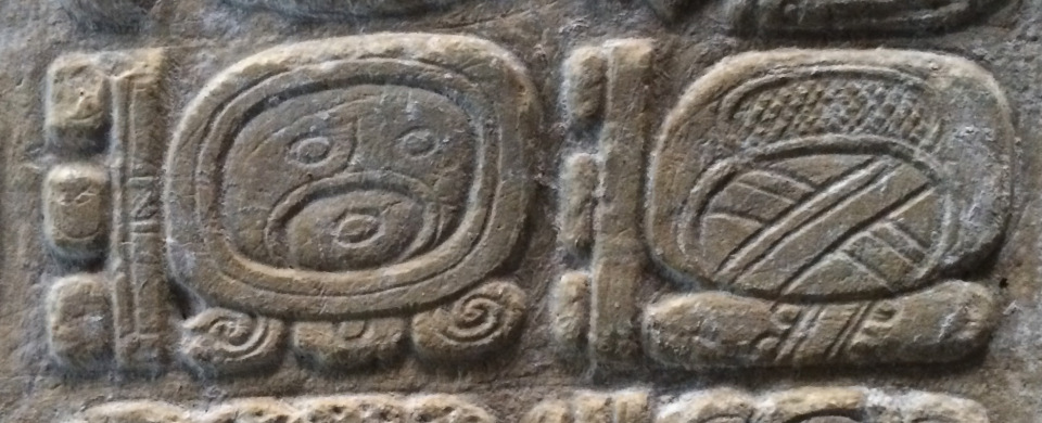 """8 Ajaw"" and ""8 Woh"" Maya glyphs"